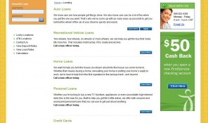 First Service Credit Union Website Lending Page