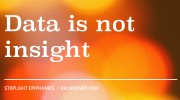 Data is not insight