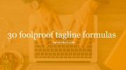 foolproof tagline formulas for copywriters who need to phone it in