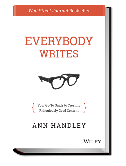 Ann Handley Content Marketing Book Everybody Writes